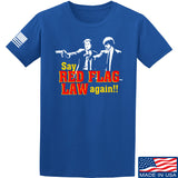 American Gun Chic Say Red Flag Laws Again T-Shirt T-Shirts Small / Blue by Ballistic Ink - Made in America USA
