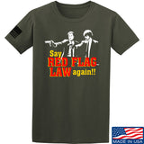 American Gun Chic Say Red Flag Laws Again T-Shirt T-Shirts Small / Military Green by Ballistic Ink - Made in America USA