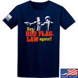American Gun Chic Say Red Flag Laws Again T-Shirt T-Shirts Small / Navy by Ballistic Ink - Made in America USA