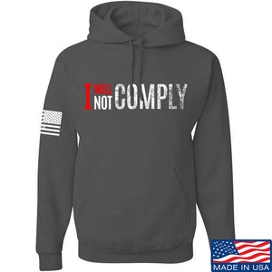 AP2020 Outdoors I Will Not Comply Hoodie Hoodies Small / Black by Ballistic Ink - Made in America USA