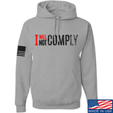 AP2020 Outdoors I Will Not Comply Hoodie Hoodies Small / Light Grey by Ballistic Ink - Made in America USA