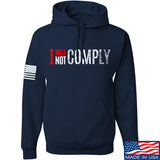 AP2020 Outdoors I Will Not Comply Hoodie Hoodies Small / Navy by Ballistic Ink - Made in America USA