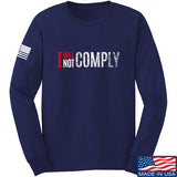 AP2020 Outdoors I Will Not Comply Long Sleeve T-Shirt Long Sleeve Small / Navy by Ballistic Ink - Made in America USA