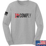 AP2020 Outdoors I Will Not Comply Long Sleeve T-Shirt Long Sleeve Small / Light Grey by Ballistic Ink - Made in America USA