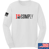 AP2020 Outdoors I Will Not Comply Long Sleeve T-Shirt Long Sleeve Small / White by Ballistic Ink - Made in America USA