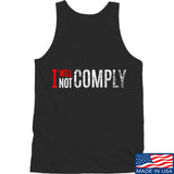 AP2020 Outdoors I Will Not Comply Tank Tanks SMALL / Black by Ballistic Ink - Made in America USA