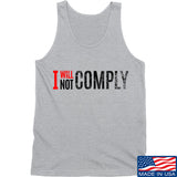 AP2020 Outdoors I Will Not Comply Tank Tanks SMALL / Light Grey by Ballistic Ink - Made in America USA