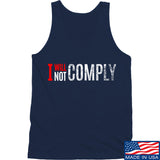 AP2020 Outdoors I Will Not Comply Tank Tanks SMALL / Navy by Ballistic Ink - Made in America USA