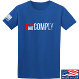 AP2020 Outdoors I Will Not Comply T-Shirt T-Shirts Small / Blue by Ballistic Ink - Made in America USA