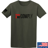 AP2020 Outdoors I Will Not Comply T-Shirt T-Shirts Small / Military Green by Ballistic Ink - Made in America USA