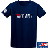 AP2020 Outdoors I Will Not Comply T-Shirt T-Shirts Small / Navy by Ballistic Ink - Made in America USA