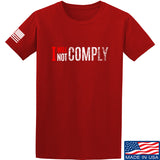 AP2020 Outdoors I Will Not Comply T-Shirt T-Shirts Small / Red by Ballistic Ink - Made in America USA