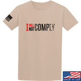 AP2020 Outdoors I Will Not Comply T-Shirt T-Shirts Small / Sand by Ballistic Ink - Made in America USA
