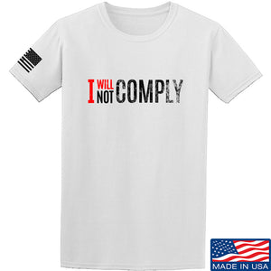 AP2020 Outdoors I Will Not Comply T-Shirt T-Shirts Small / Black by Ballistic Ink - Made in America USA