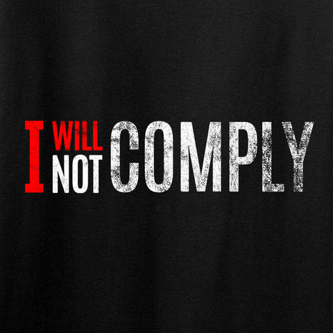 AP2020 Outdoors Ladies I Will Not Comply V-Neck T-Shirts, V-Neck [variant_title] by Ballistic Ink - Made in America USA
