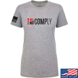 AP2020 Outdoors Ladies I Will Not Comply T-Shirt T-Shirts SMALL / Light Grey by Ballistic Ink - Made in America USA