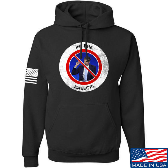 AP2020 Outdoors NO TO Beto O'Rourke Hoodie Hoodies Small / Black by Ballistic Ink - Made in America USA