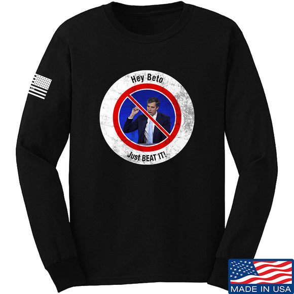 AP2020 Outdoors NO TO Beto O'Rourke Long Sleeve T-Shirt Long Sleeve Small / Black by Ballistic Ink - Made in America USA