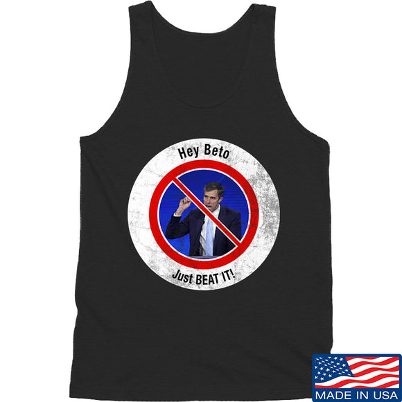 AP2020 Outdoors NO TO Beto O'Rourke Tank Tanks SMALL / Black by Ballistic Ink - Made in America USA