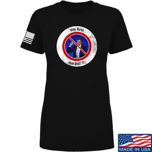 AP2020 Outdoors Ladies NO TO Beto O'Rourke T-Shirt T-Shirts SMALL / Black by Ballistic Ink - Made in America USA