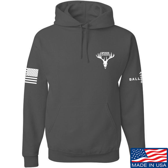 AP2020 Outdoors AP2020 Outdoors Chest Logo Hoodie Hoodies Small / Charcoal by Ballistic Ink - Made in America USA