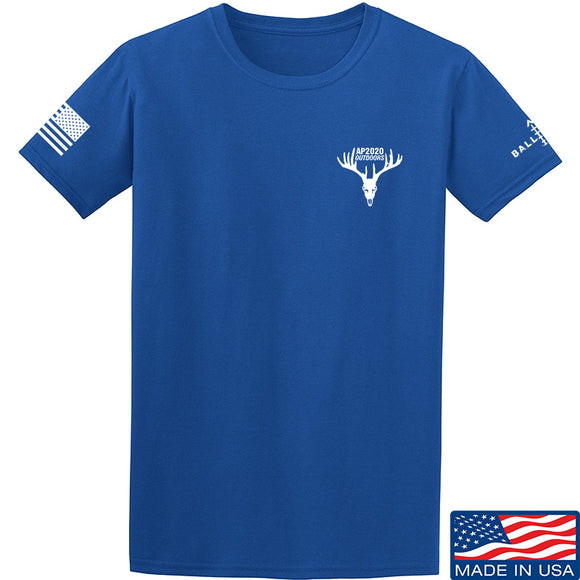AP2020 Outdoors AP2020 Outdoors Chest Logo T-Shirt T-Shirts Small / Blue by Ballistic Ink - Made in America USA