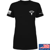 AP2020 Outdoors Ladies AP2020 Outdoors Chest Logo T-Shirt T-Shirts SMALL / Black by Ballistic Ink - Made in America USA