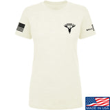AP2020 Outdoors Ladies AP2020 Outdoors Chest Logo T-Shirt T-Shirts SMALL / Cream by Ballistic Ink - Made in America USA