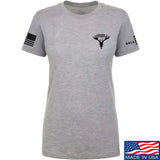 AP2020 Outdoors Ladies AP2020 Outdoors Chest Logo T-Shirt T-Shirts SMALL / Light Grey by Ballistic Ink - Made in America USA