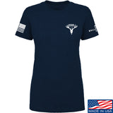 AP2020 Outdoors Ladies AP2020 Outdoors Chest Logo T-Shirt T-Shirts SMALL / Navy by Ballistic Ink - Made in America USA