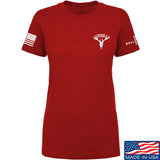 AP2020 Outdoors Ladies AP2020 Outdoors Chest Logo T-Shirt T-Shirts SMALL / Red by Ballistic Ink - Made in America USA