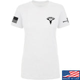 AP2020 Outdoors Ladies AP2020 Outdoors Chest Logo T-Shirt T-Shirts SMALL / White by Ballistic Ink - Made in America USA