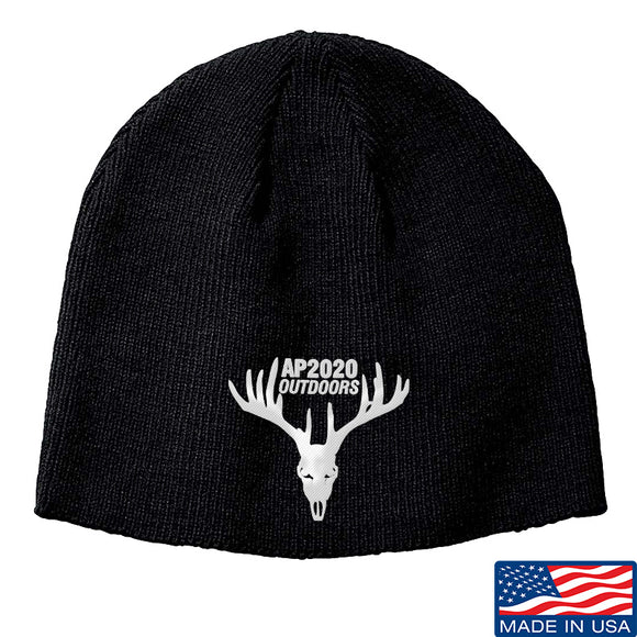 AP2020 Outdoors AP2020 Outdoors Logo Beanie Headwear Black by Ballistic Ink - Made in America USA