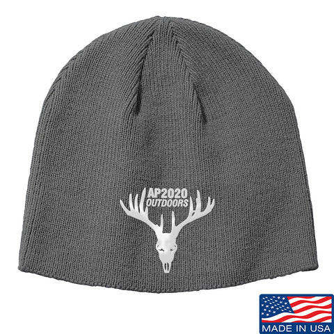 AP2020 Outdoors AP2020 Outdoors Logo Beanie Headwear Grey by Ballistic Ink - Made in America USA