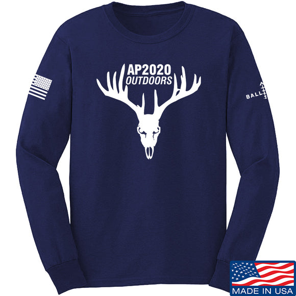 AP2020 Outdoors AP2020 Outdoors Full Logo Long Sleeve T-Shirt Long Sleeve Small / Navy by Ballistic Ink - Made in America USA