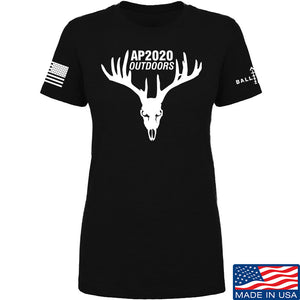 AP2020 Outdoors Ladies AP2020 Outdoors Full Logo T-Shirt T-Shirts SMALL / Red by Ballistic Ink - Made in America USA