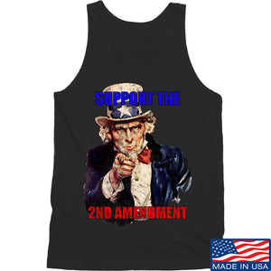 AP2020 Outdoors Uncle Sam 2A Tank Tanks SMALL / White by Ballistic Ink - Made in America USA
