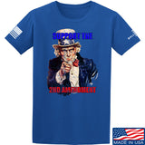 AP2020 Outdoors Uncle Sam 2A T-Shirt T-Shirts Small / Blue by Ballistic Ink - Made in America USA