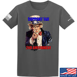 AP2020 Outdoors Uncle Sam 2A T-Shirt T-Shirts Small / Charcoal by Ballistic Ink - Made in America USA