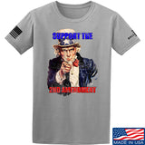 AP2020 Outdoors Uncle Sam 2A T-Shirt T-Shirts Small / Light Grey by Ballistic Ink - Made in America USA