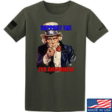 AP2020 Outdoors Uncle Sam 2A T-Shirt T-Shirts Small / Military Green by Ballistic Ink - Made in America USA