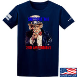 AP2020 Outdoors Uncle Sam 2A T-Shirt T-Shirts Small / Navy by Ballistic Ink - Made in America USA