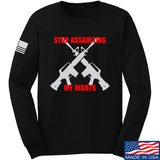 AP2020 Outdoors Stop Assaulting My Rights Long Sleeve T-Shirt Long Sleeve Small / Black by Ballistic Ink - Made in America USA