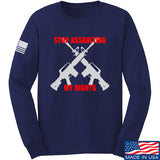 AP2020 Outdoors Stop Assaulting My Rights Long Sleeve T-Shirt Long Sleeve Small / Navy by Ballistic Ink - Made in America USA