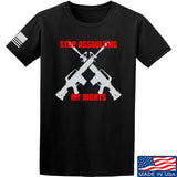 AP2020 Outdoors Stop Assaulting My Rights T-Shirt T-Shirts Small / Black by Ballistic Ink - Made in America USA