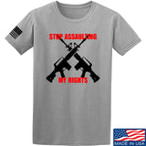 AP2020 Outdoors Stop Assaulting My Rights T-Shirt T-Shirts Small / Light Grey by Ballistic Ink - Made in America USA