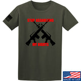 AP2020 Outdoors Stop Assaulting My Rights T-Shirt T-Shirts Small / Military Green by Ballistic Ink - Made in America USA