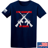 AP2020 Outdoors Stop Assaulting My Rights T-Shirt T-Shirts Small / Navy by Ballistic Ink - Made in America USA