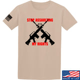 AP2020 Outdoors Stop Assaulting My Rights T-Shirt T-Shirts Small / Sand by Ballistic Ink - Made in America USA