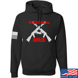 AP2020 Outdoors Stop Assault.... Rifles Hoodie Hoodies Small / Black by Ballistic Ink - Made in America USA